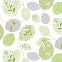 Toile Cirée au metre Transparent Vegetal Vert