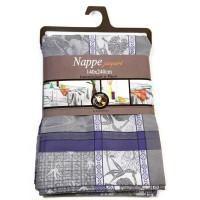 Nappe Rectangle Majorque Bleu Gris