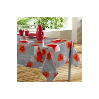 Nappe Toile Cirée Rectangle Matinale Grise