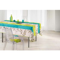 Nappe Rectangle Cavaillon Anis Turquoise