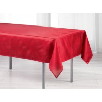 Nappe Rectangle Scintille Pailleté Rouge