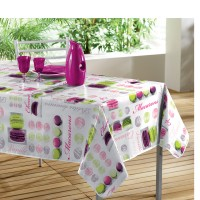 Nappe Toile cirée rectangle Douceurs Prune