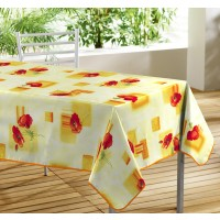 Nappe Toile Cirée Rectangle Pavot