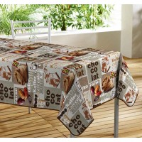 Nappe Toile Cirée Rectangle Arome Cafe