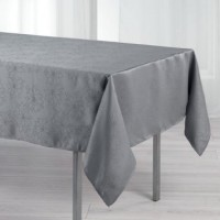 Nappe Rectangle Elia Damassée Gris