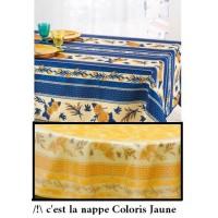 Nappe Rectangle Tournesol Abeille Jaune