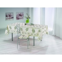 Nappe Rectangle Olivou Beige Vert