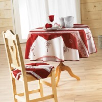 Nappe Ronde Romance Rouge