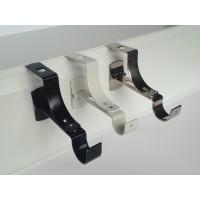 Support de barre à rideau noir mat diametre 20 pour coffre sans perçage