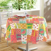 Nappe Toile Cirée Ronde Sweet Fruit