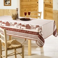 Nappe Rectangle Tignes Rouge
