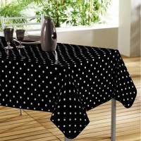 Nappe Rectangle Lollypop Noir à pois blanc