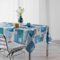 Nappe Rectangle Trikala Bleu