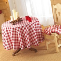 Nappe Ronde Vichy Rouge