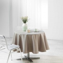 Nappe enduit ronde Liany Gris Taupe